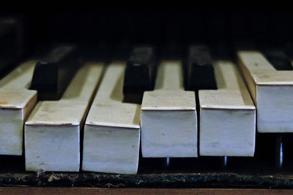 Clavier de Piano rouillé